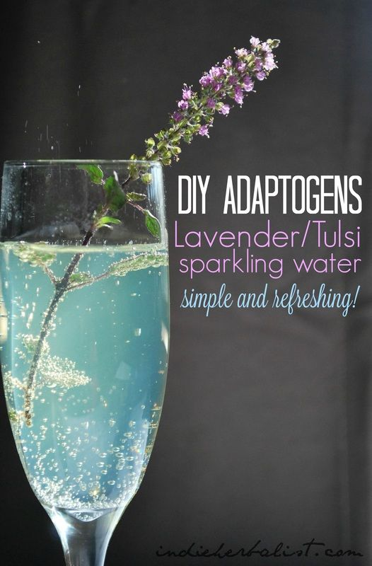 Easy peasy + refreshing adaptogen sparkling water // indie herbalist