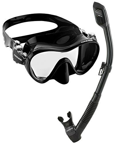 Cressi Scuba Diving Snorkeling Freediving Mask Snorkel Set. The first submersible Dry snorkel in the Cressi collection