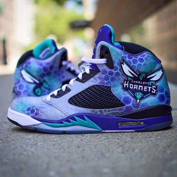3ae1420ffb7c26 Charlotte Hornets Custom Air Jordan Shoes