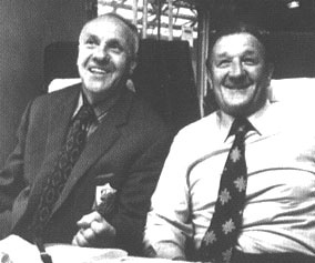 Bill Shankly and Bob Paisley. Liverpool past great manager. YNWA.
