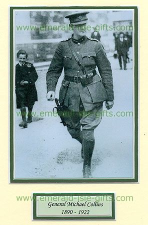 Michael Collins - Michael Collins In Military Uniform 1922 - $18.50 - Michael Collins (1890-1922), one of his best known pictures. Collins was an Irish nationalist, Minister for Finance, Director of Intelligence of IRA, Gaa lover, negotiator of Anglo-Irish Treaty and Commander-in-Chief of Free State Army.