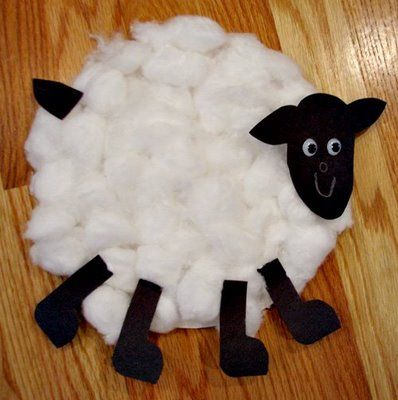 Sheep Paper Plate & Paper Plate Crafts ~ How To Make A Paper