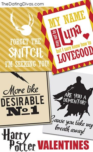 HARRY POTTER Valentines- Free Download... but also some of these are creepy??? hahaha @Kira GaNun
