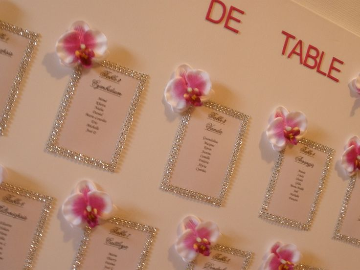plan de table strass et orchidées : Décorations murales par dsdwedding