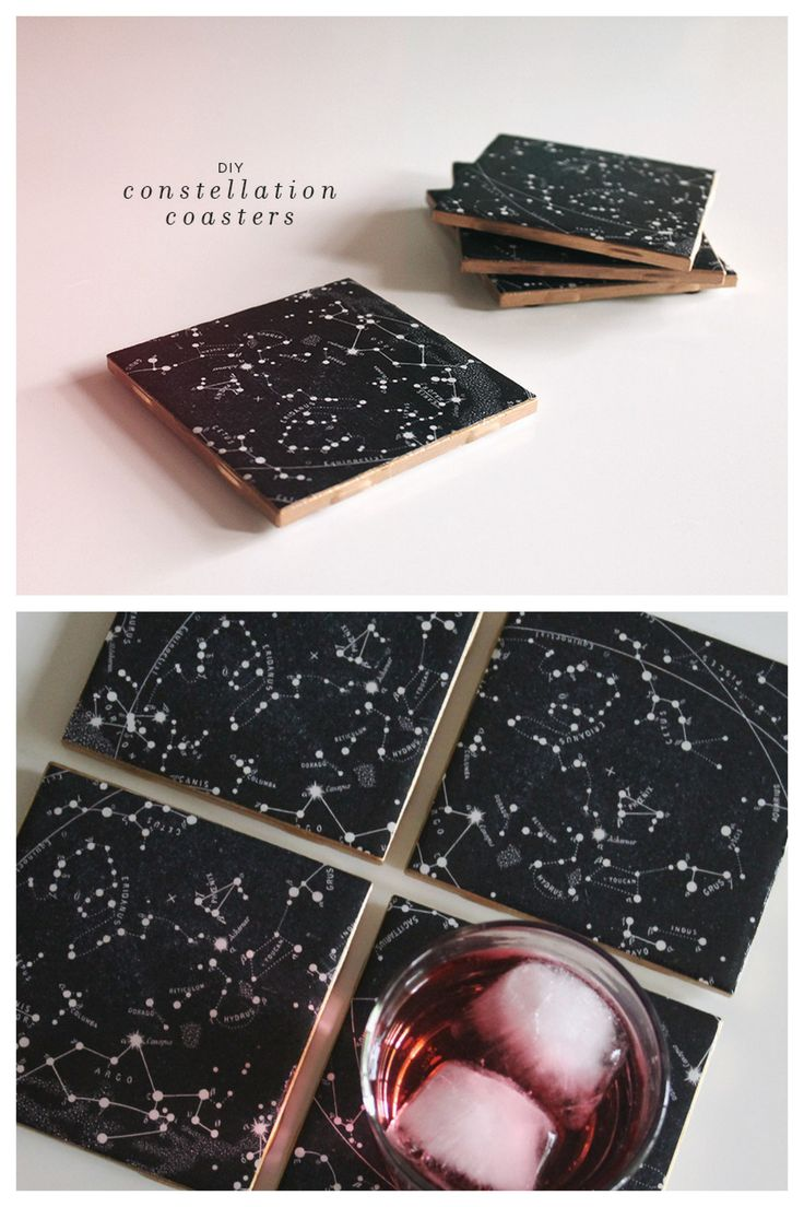 "diychristmascrafts: "" DIY Constellation Tile Coaster Tutorial from Almost Makes Perfect here. You can use the really cheap tiles from Lowes or Home Depot which I believe are around $.30. """