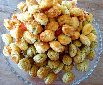 Mini madeleines salées au pesto ; fromage de chèvre tomates ; roquefort - Il…