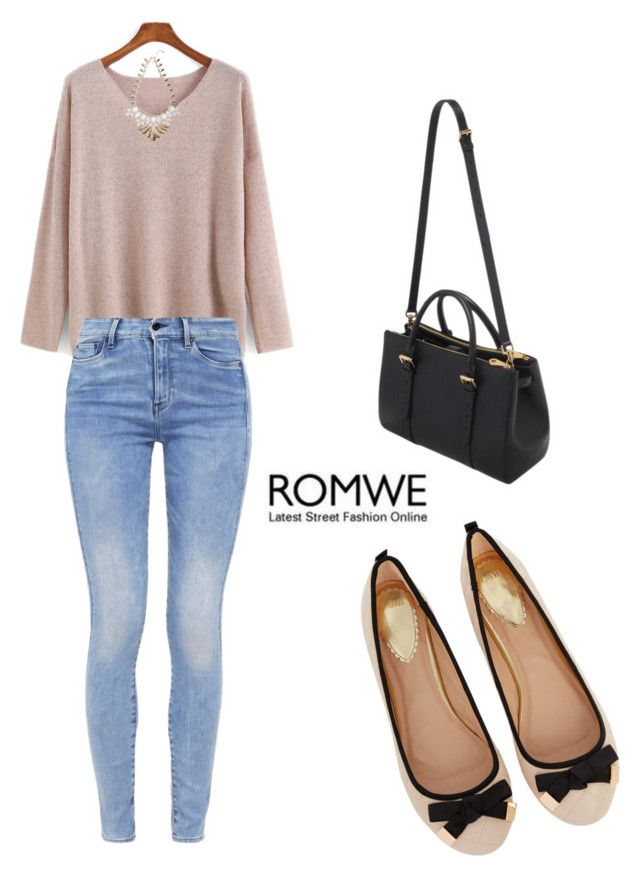 """ROMWE Sweater"" by tania-alves ❤ liked on Polyvore featuring Oasis, G-Star, Mulberry and Warehouse"