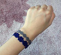 FREE PATTERN:  Cruciani-Style bracelets by E.K. Kim