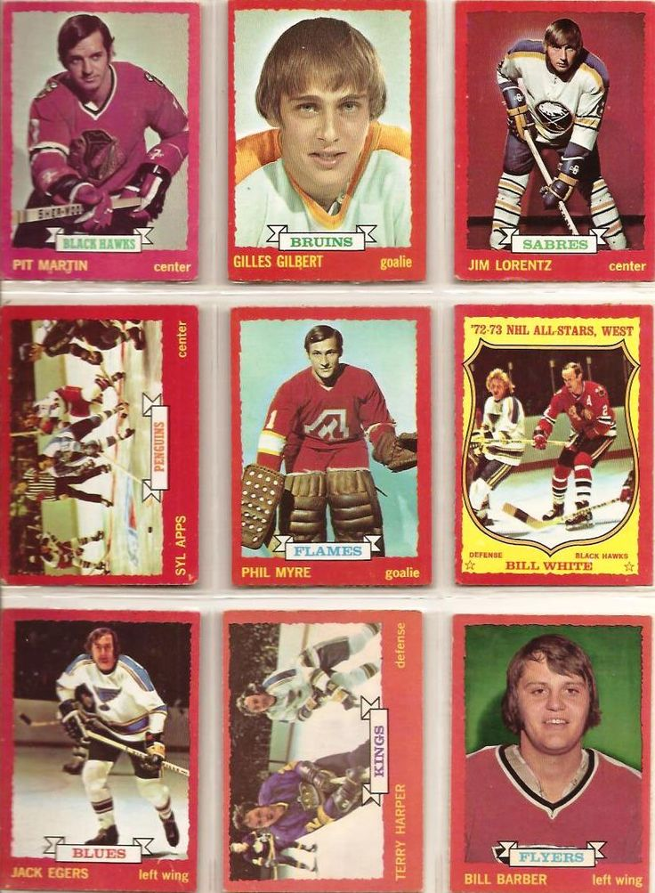 73-81 Pit Martin, Gilles Gilbert, Jim Lorentz, Syl Apps, Phil Myre, Bill White, Jack Egers, Terry Harper, Bill Barber (R)