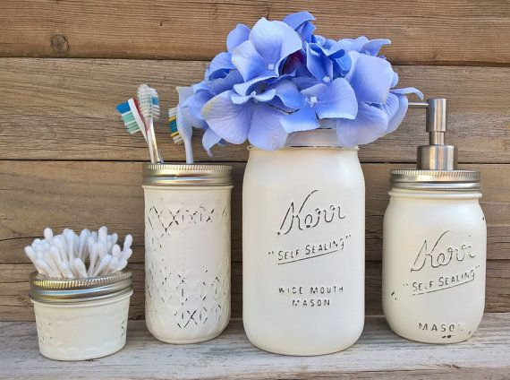 Mason jar ideas Hey, I found this really awesome Etsy listing at https://www.etsy.com/listing/240303308/country-bathroom-decor-mason-jar