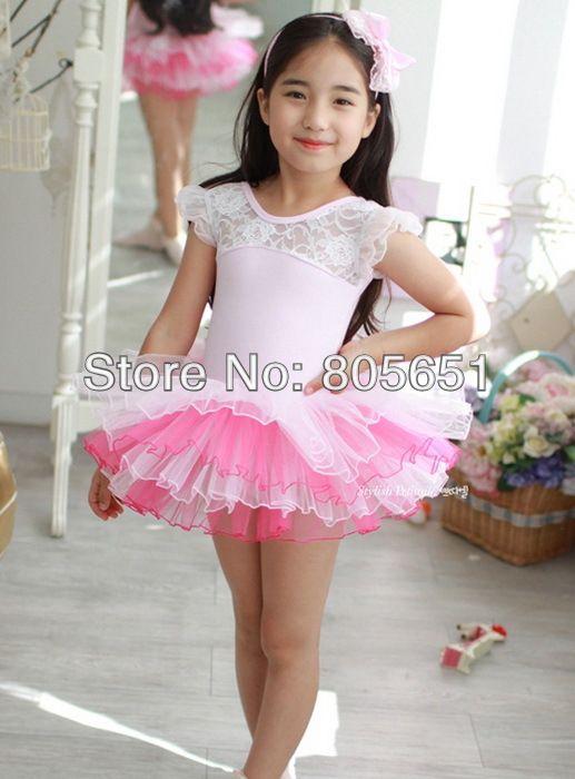 Девочки дети розовый хлопок купальник балет пачка скейт Dancewear ну вечеринку платье милый день рождения подарок