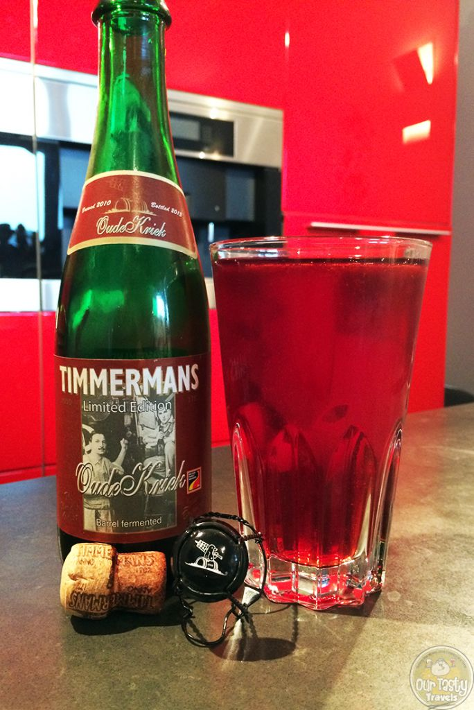 19-Jul-2015 : Limited Edition Oude Kriek (2013) by Brewery Timmermans. I'll be honest, I wasn't expecting much from this one, thinking it would be a normal, oversweet cherry bomb Kriek. I was happily mistaken! This beer has a very sour lambic base, which balances out quite well once the bottle is open a few minutes. A very enjoyable Oude Kriek! #ottbeerdiary