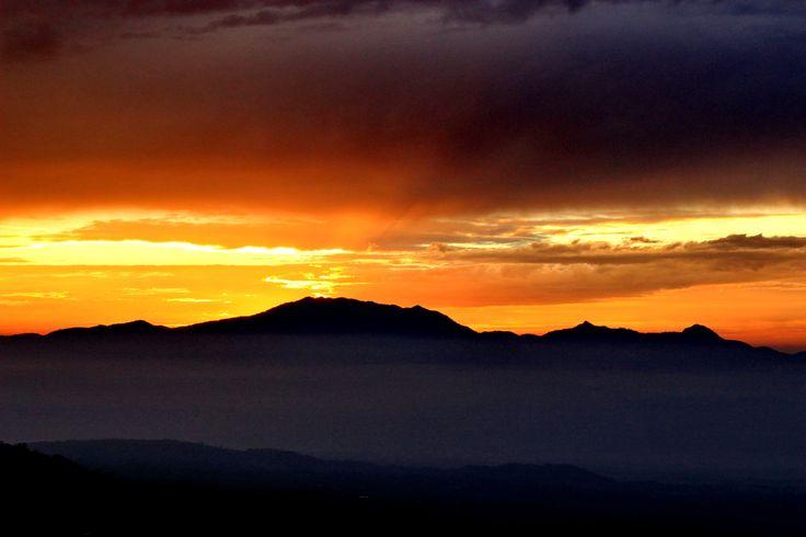 Sunrise Behind Sawal mt, Galunggung View