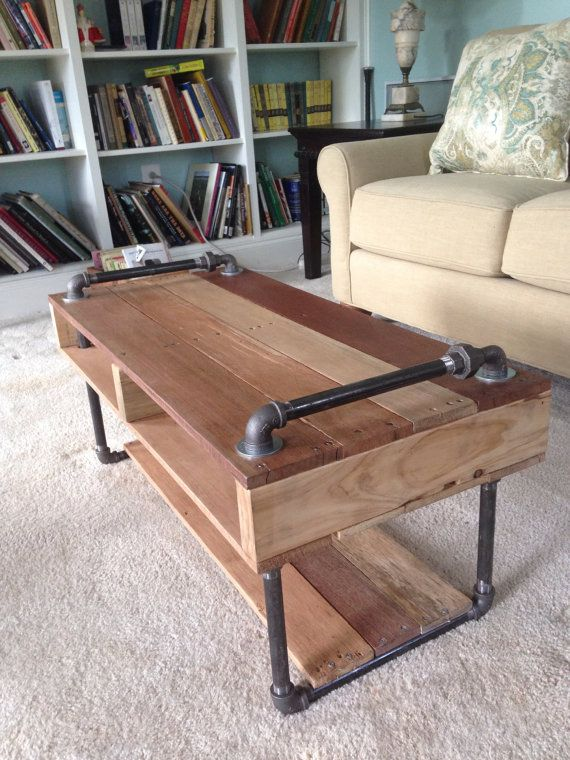 industrial pipe furniture. Industrial Reclaimed Pallet And Steel Pipe Coffee Table. Furniture W