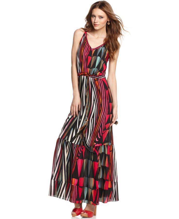 M60 miss sixty dress sleeveless printed maxi womens