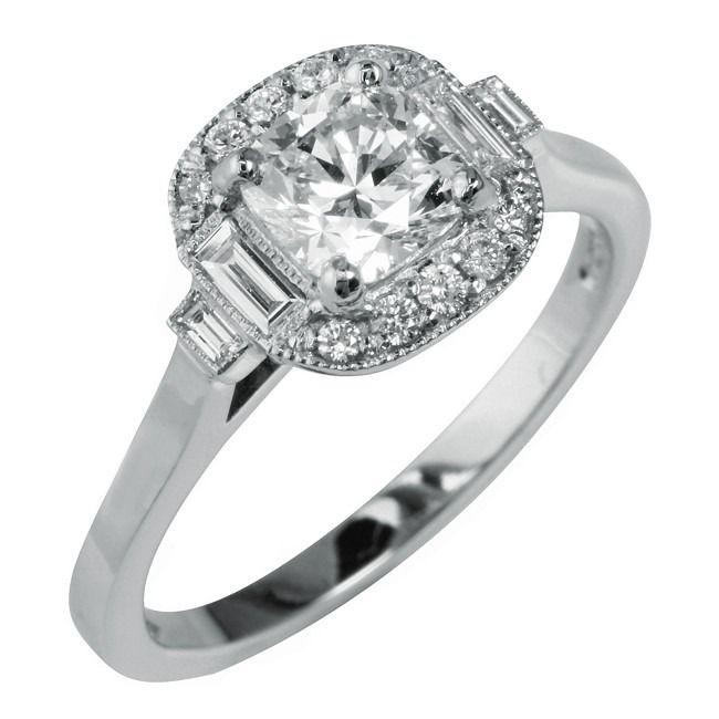 21 best Art Deco Engagement Rings images on Pinterest