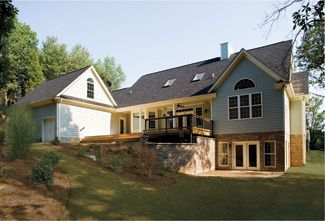 95 best images about walkout basement on pinterest for Country ranch house plans with basement
