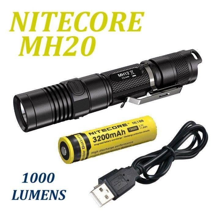 Nitecore MH20 Flashlight 1000 lumens