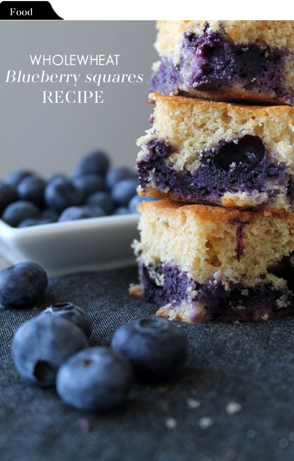 The Vault Files: Food File: Wholewheat blueberry squares
