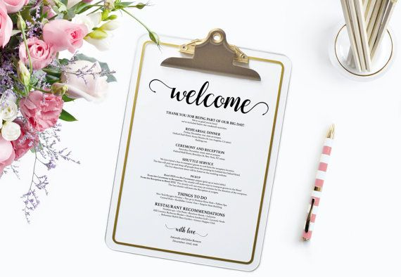 "Download, edit and print how and where you'd like! After checkout is complete you can download your ""wedding itinerary template"" #WeDoHoney #Wedding #WeddingTemplate"