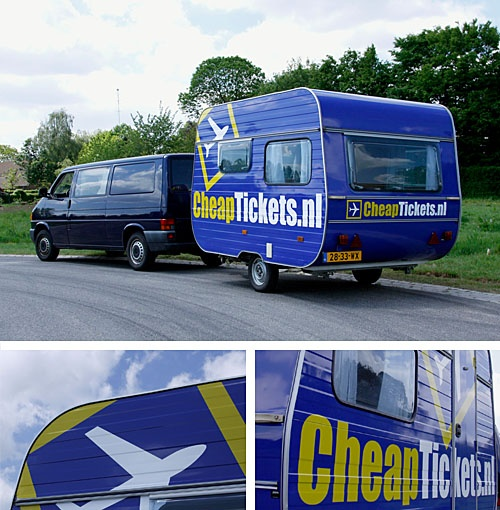 Check out the size of the message on this trailer. The custom vehicle wrap does a great job of advertising the company even at 70 mpg.