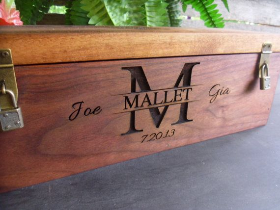 Wedding Wine Box Wine Box Personalized and Custom by MossyHoller