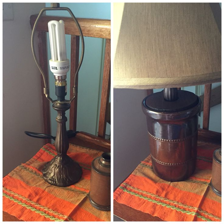 Why not turn your old canisters into a lamp?