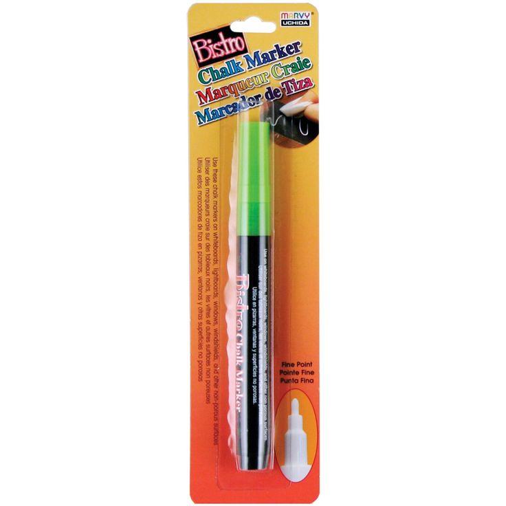 Bistro Chalk Marker Fine Point-Fluorescent Green