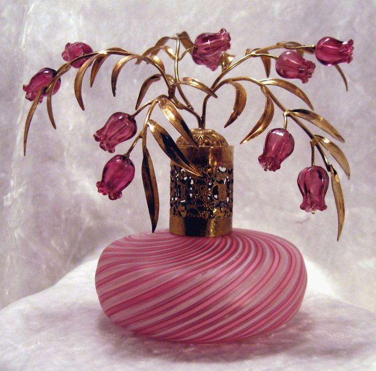 DAZZLIN Pink DEVILBISS Murano WEST GERMANY Antique Perfume Scent Atomizer Bottle #DeVilbiss