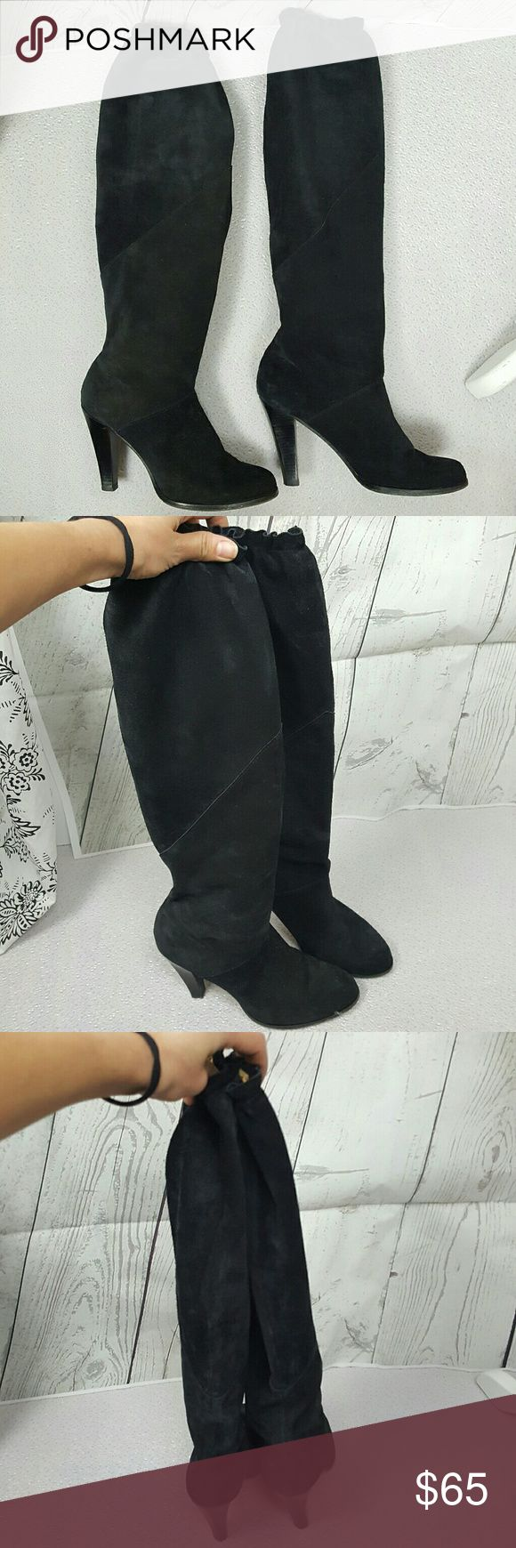 Michael Kors sexy over knee black suede boots US7  In good pre owned condition MICHAEL Michael Kors Shoes Over the Knee Boots