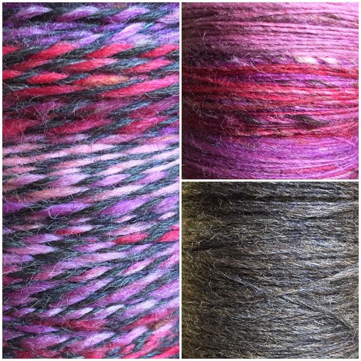 """18 Likes, 2 Comments - Medusa (@medusas_handmade) on Instagram: """"Beautiful hand plyed yarn #wip natural handspun grey australian wool #2 ply with hand dyed,…"""""""