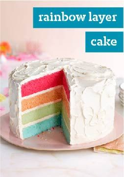 Rainbow Layer Cake  A mix of fruity JELL-O flavors gives this impressive layer cake its rainbow of colors. And making one is a whole lot easier than you might think!