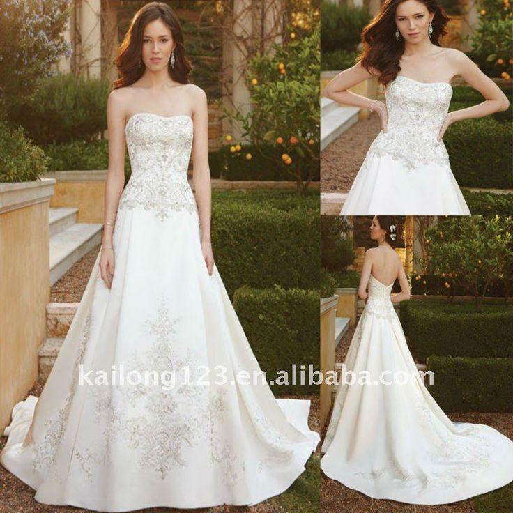 Sparkly strapless princess wedding dress wedding pinterest for Strapless sparkly wedding dresses