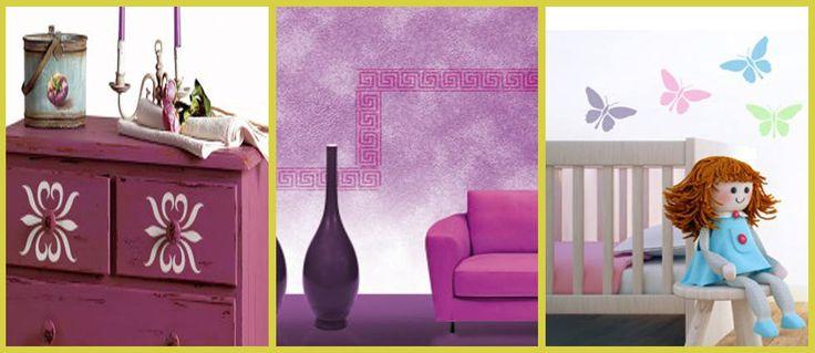 Plantillas decorativas para paredes plantillas - Tecnicas para pintar una habitacion ...