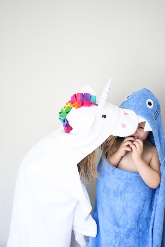 Personalized Yikes Twins Unicorn Hooded Towel by Yikestwins