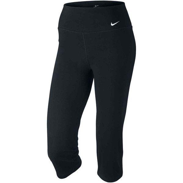 Nike Legend 2.0 Slim DFC Capris Black ($36) ❤ liked on Polyvore featuring activewear, activewear pants, leggings, nike sportswear, nike, nike activewear pants and nike activewear