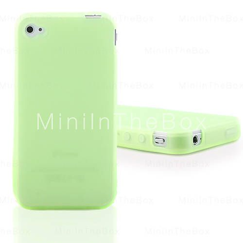 Funda Verde Fosforescente para el iPhone 4