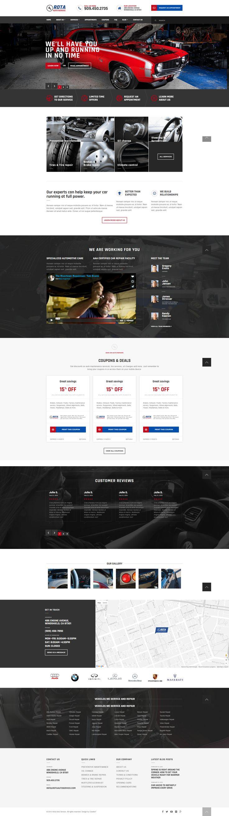 Rota Auto Service - Mechanic Workshop HTML5 Template #site #car #mechanician • Download ➝ https://themeforest.net/item/rota-auto-service-mechanic-workshop-html5-template/15412011?ref=pxcr