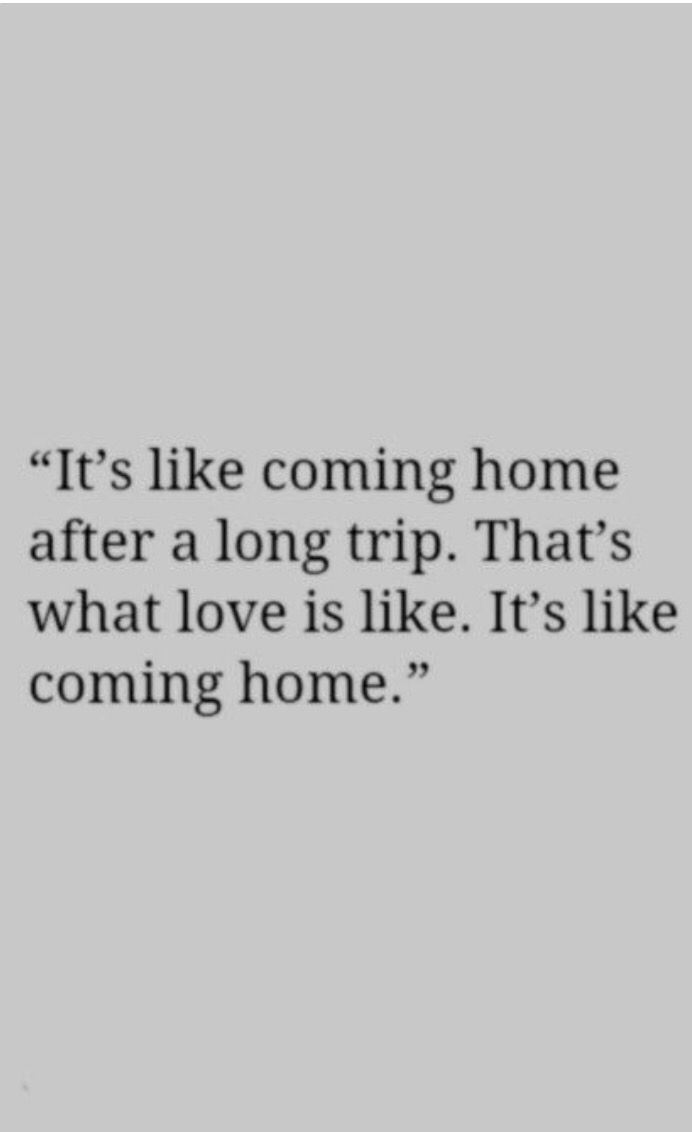 it's like coming home