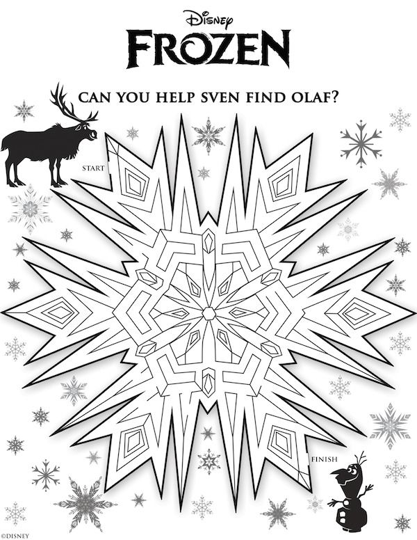 disneys new movie frozen free printable activity sheets for kids mazes memory game more