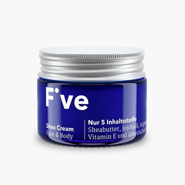 Five Shea Cream Face & Body | Reichhaltige Creme mit Sheabutter für Gesicht, Körper und Hände
