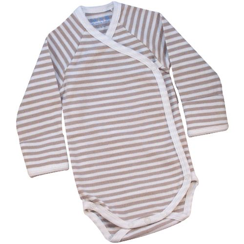 Nature's Nursery Long Sleeve Side Snap Babybody by Under the Nile Organics at BabyEarth.com, $14.95