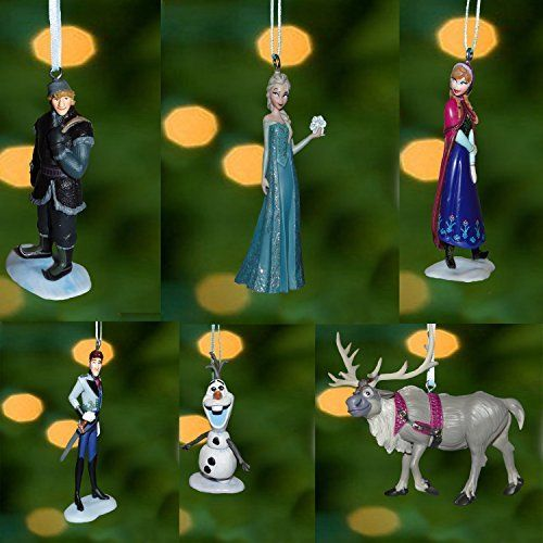 "Disney Frozen Christmas Tree Ornament Set Featuring Anna, Elsa, Hans, Kristoff, Sven the Reindeer, Olaf the Snowman - Shatterproof Plastic Ornaments Ranging from 3"" to 4"" Tall, http://www.amazon.com/dp/B00FUB0SBK/ref=cm_sw_r_pi_awdm_85sHub1RFXCJM"