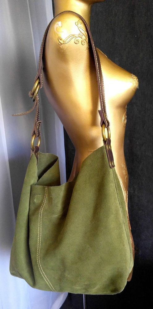 1c48681a6 LUCKY BRAND Olive Green Suede Leather Sac Hobo Shoulder Bag Purse Slouchy  Boho | Clothing, Shoes & Accessories, Women's Bags & Handbags | eBay!
