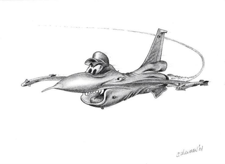 Pencil fantacy F-16