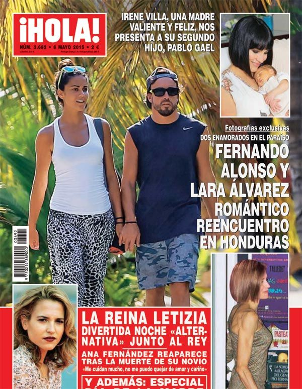 Portada de ¡HOLA! El romántico reencuentro de Lara Álvarez y Fernando Alonso