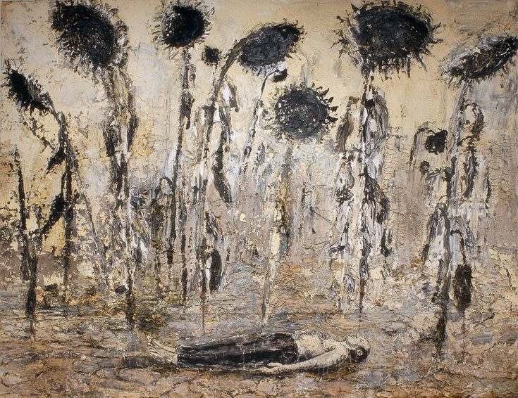 Anselm Kiefer, The Orders of the Night, 1996. Emulsion, acrylic and shellac on canvas. 356 x 463 cm. Seattle Art Museum. Gift of Mr. and Mrs. Richard C. Hed reen. Photo Seattle Art Museum / © Anselm Kiefer.