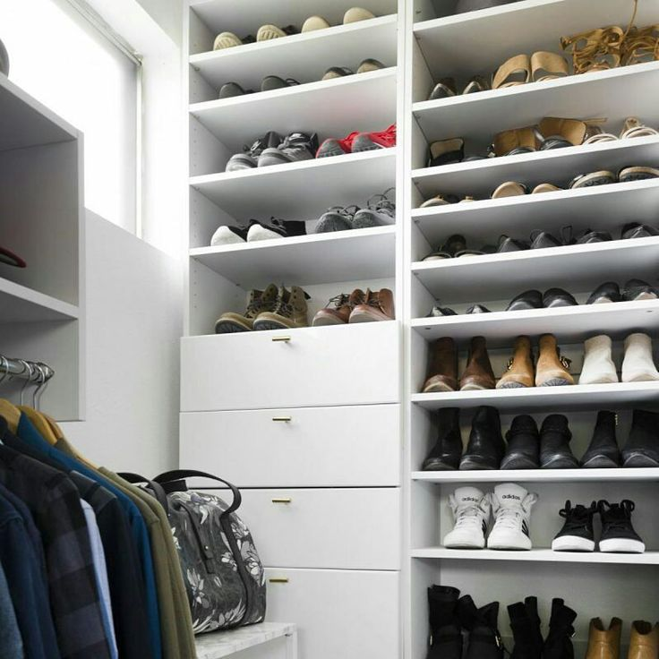 Give All Those Shoes A Home #closet #closets #modularclosets #organizing  #organized