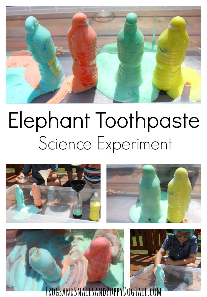 Classic Elephant Toothpaste Science Experiment for Kids. This one's always a hit!