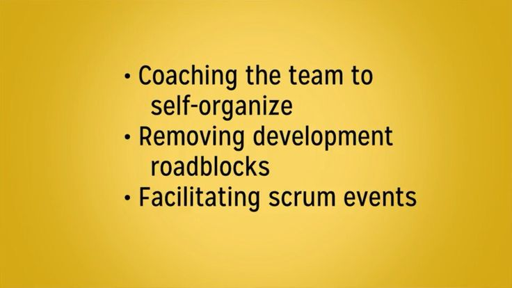 scrum master duties to team